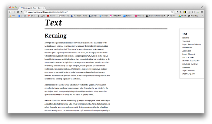 Thinking With Type website 5