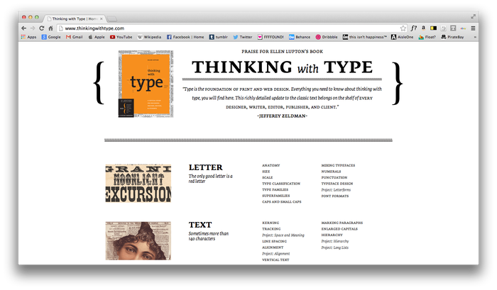 Thinking With Type Website 9