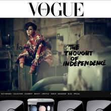 <cite>Vogue Japan</cite> website
