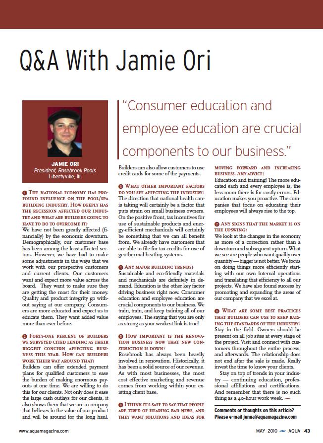 AQUA magazine, May 2010 2