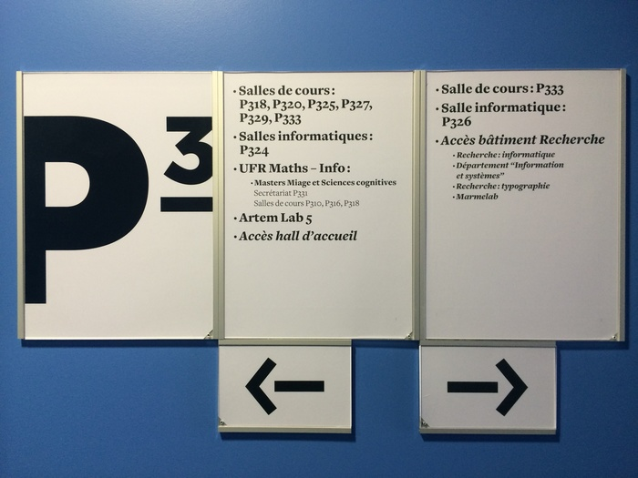 Signage at ARTEM, Nancy 1