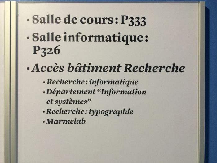 Signs at ARTEM, Nancy 2