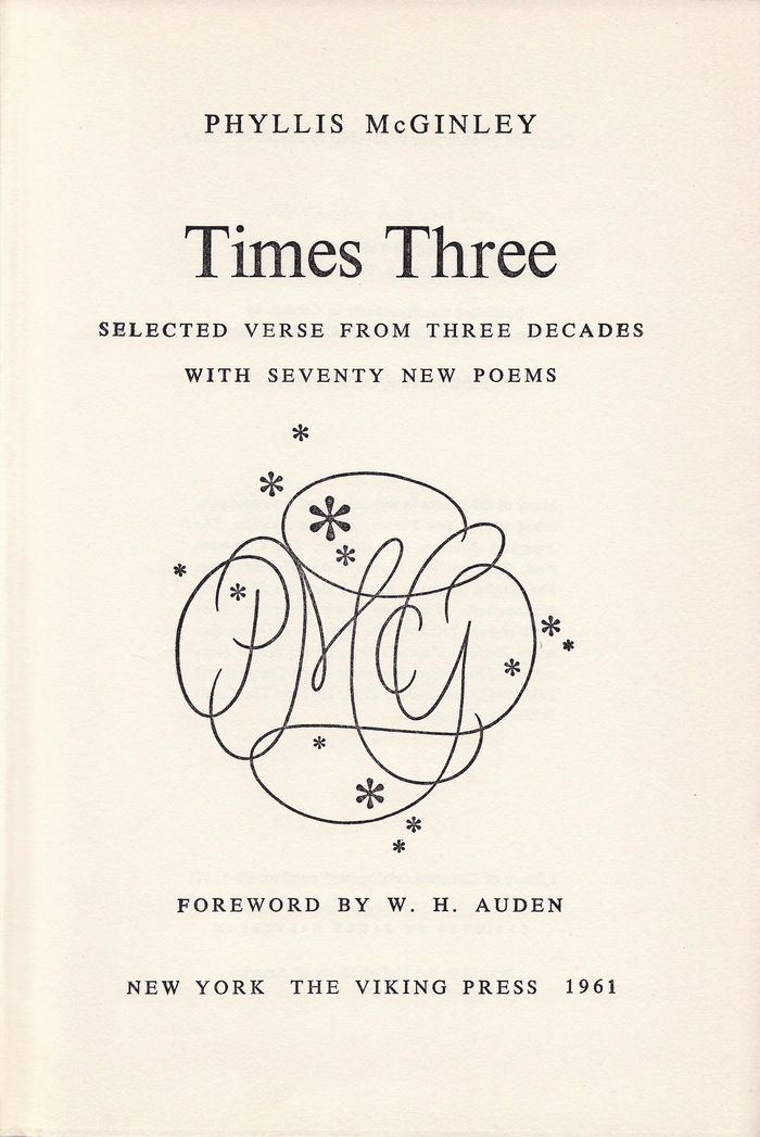 Phyllis McGinley, Times Three 3