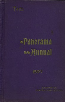 1897 <cite>The Panorama Annual</cite> Yearbook for Binghamton Central High School