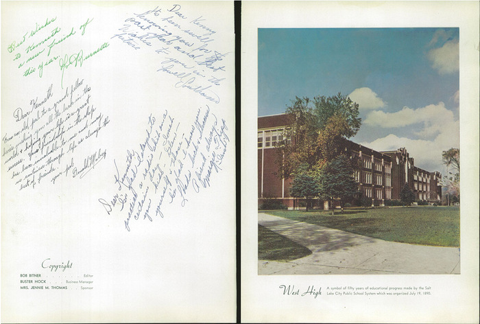 The 1940 Panther, Yearbook of West High School of Salt Lake City, Utah 3