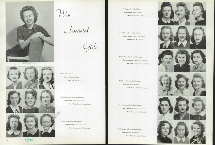 The 1940 Panther, Yearbook of West High School of Salt Lake City, Utah 8