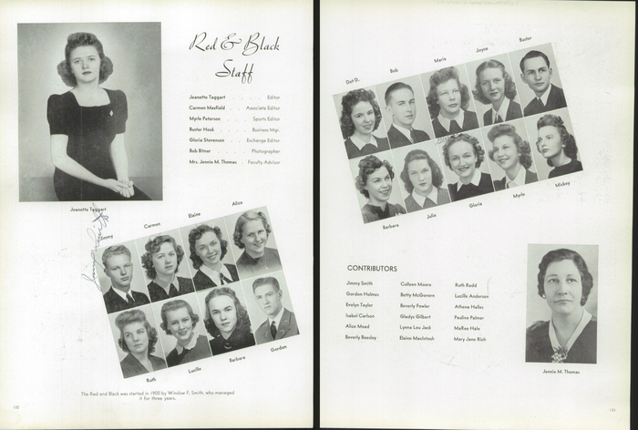 The 1940 Panther, Yearbook of West High School of Salt Lake City, Utah 10