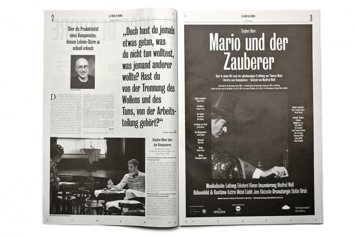 La voce di Torre: programme for the play Mario und der Zauberer 2