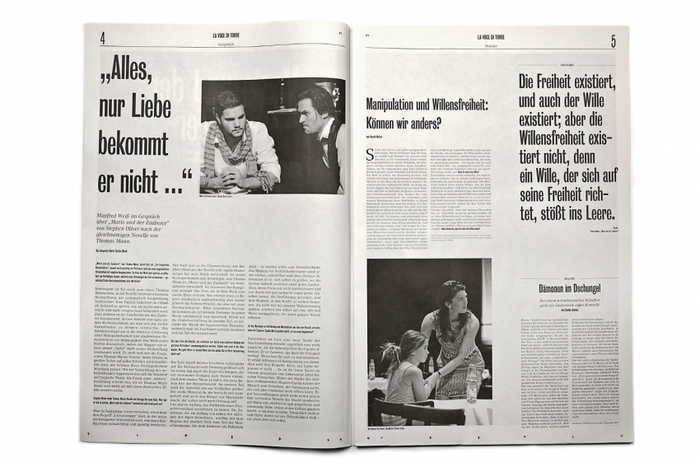 La voce di Torre: programme for the play Mario und der Zauberer 3