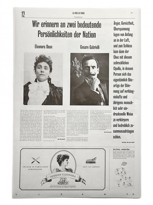 La voce di Torre: programme for the play Mario und der Zauberer 6