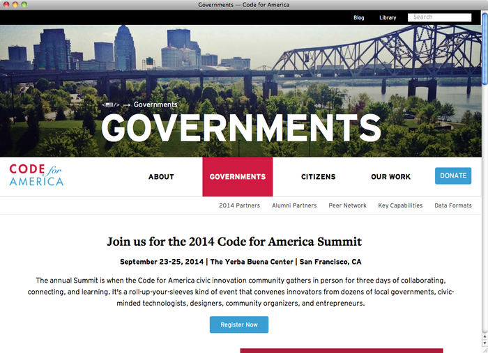 Code for America website 3