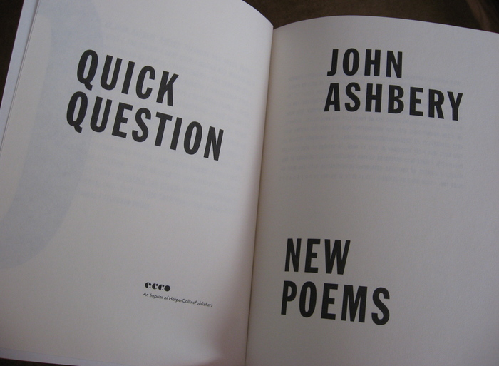 Quick Question by John Ashbery 2