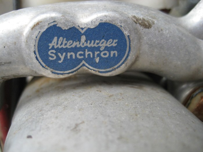 Altenburger Synchron brake fork badge 2