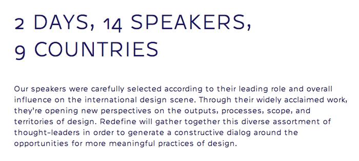 Redefine Design Conference 2