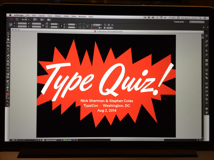 2014 TypeCon Type Quiz 3