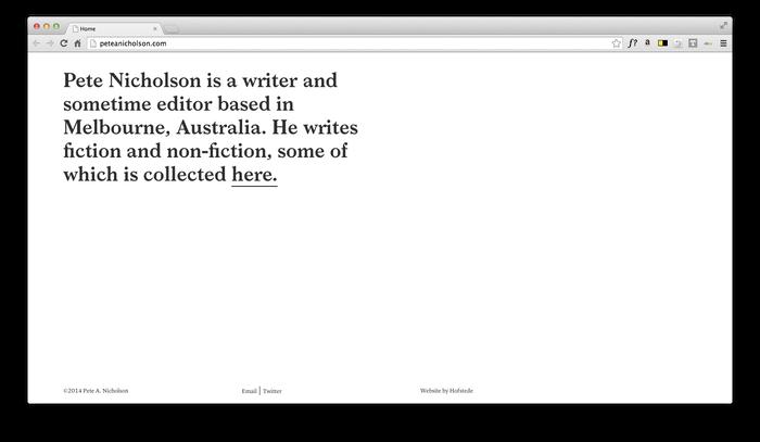 Pete Nicholson Website 1