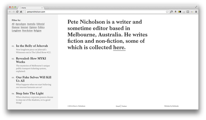 Pete Nicholson Website 2