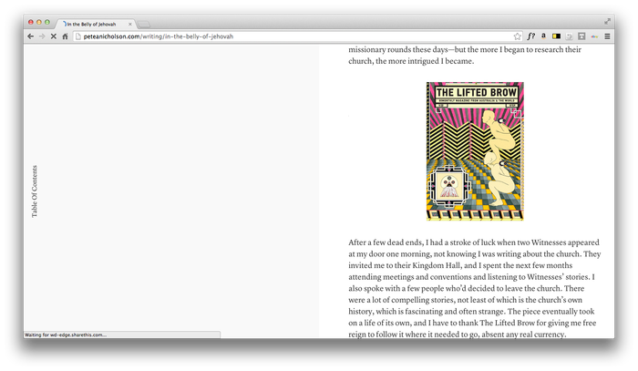 Pete Nicholson Website 4