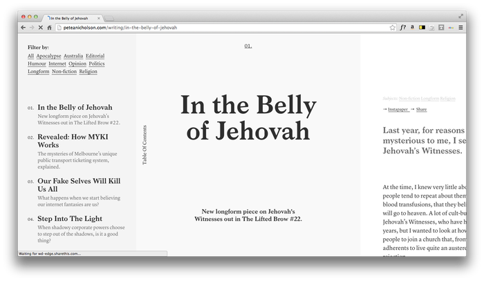 Pete Nicholson Website 5