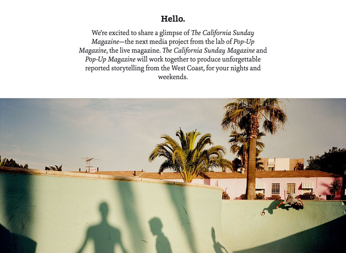 The California Sunday Magazine website 2