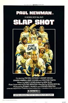 <cite>Slap Shot</cite> poster and lobby cards