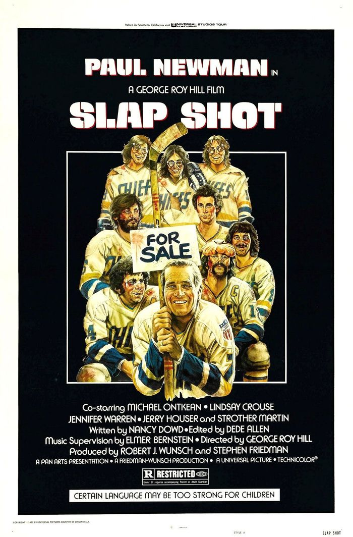 Slap Shot poster and lobby cards 1