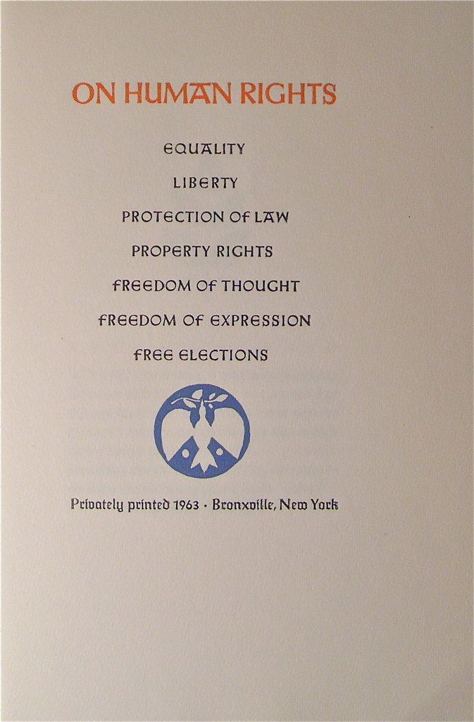On Human Rights 1