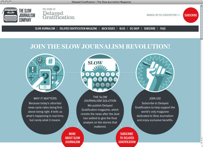 The Slow Journalism Company website 1