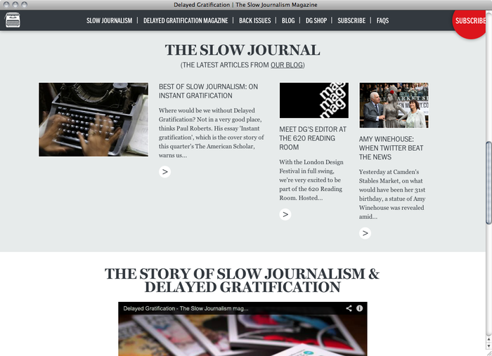 The Slow Journalism Company website 4