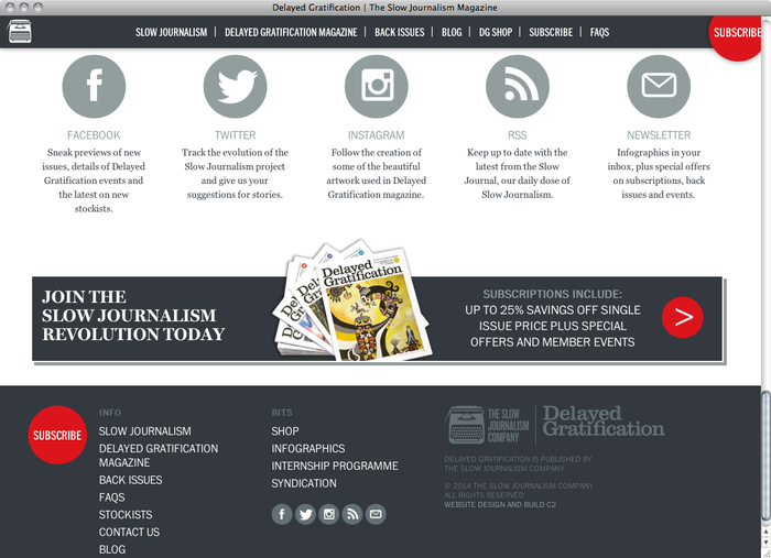 The Slow Journalism Company website 5