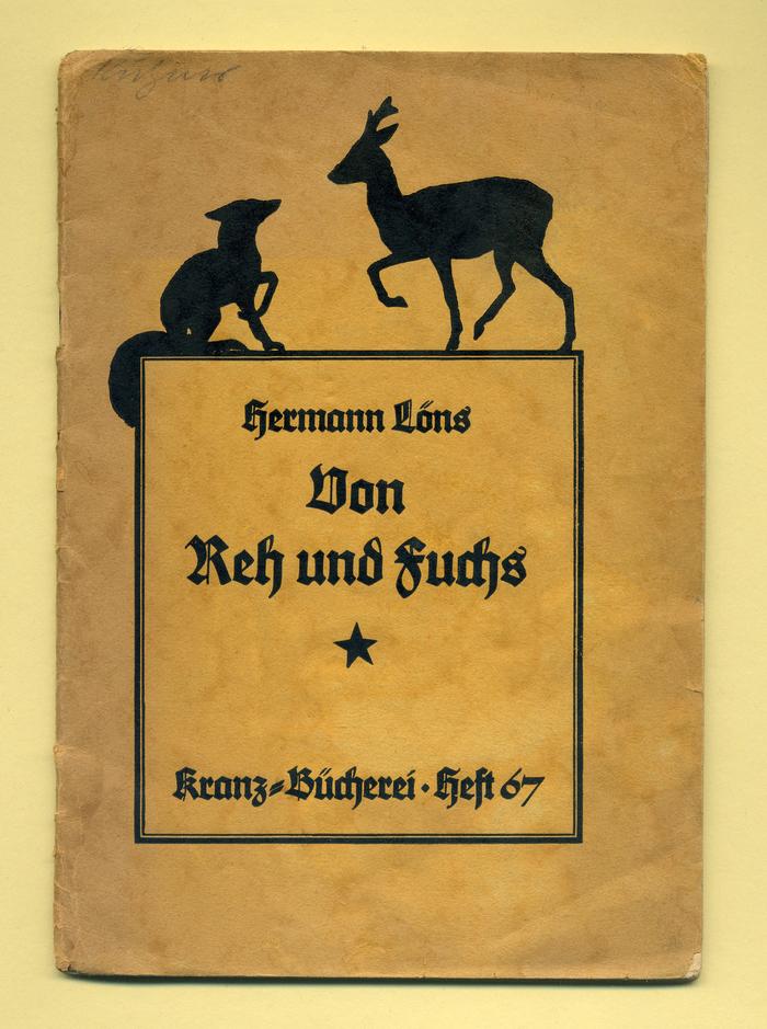 Von Reh und Fuchs by Hermann Löns 1
