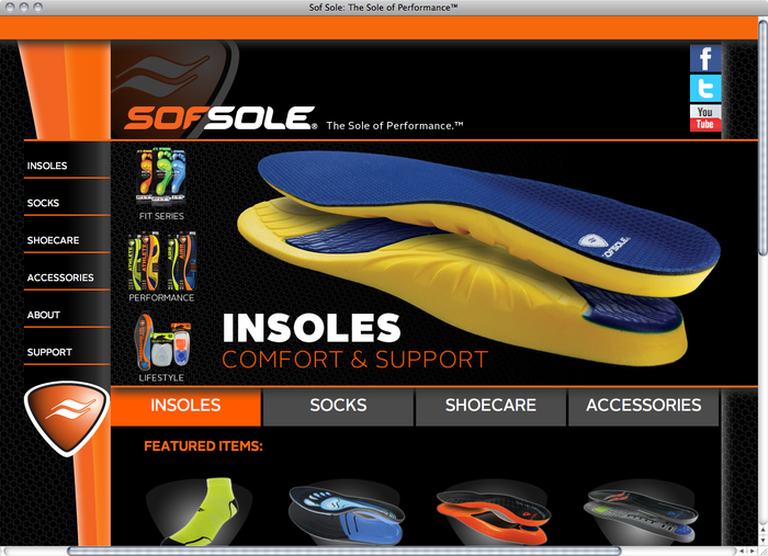 Sof Sole website 1