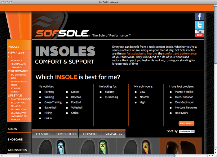 Sof Sole website 2