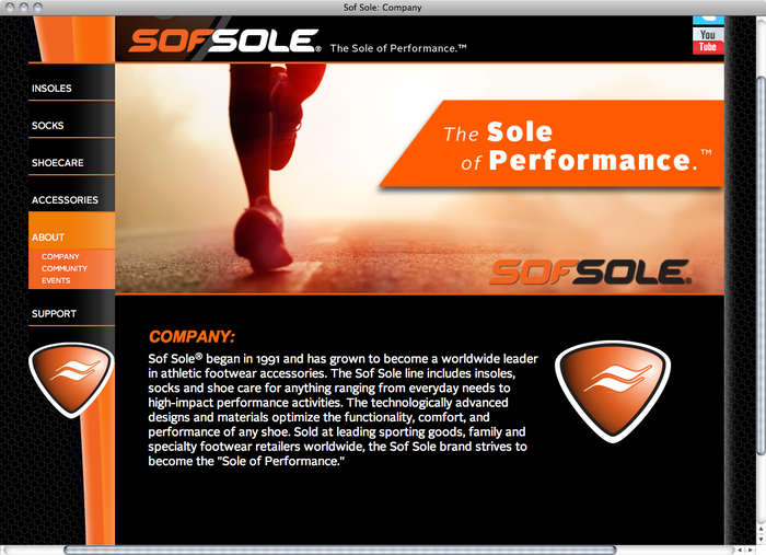 Sof Sole website 4