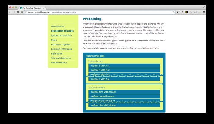 The Unofficial OpenType Cookbook 5