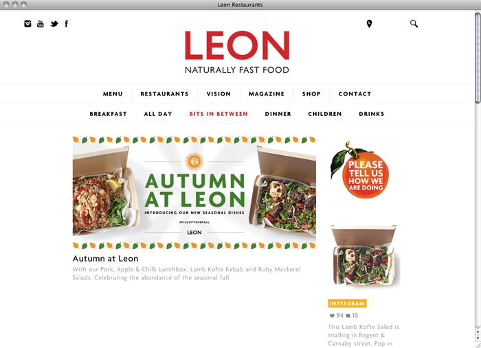 Leon Restaurants website 1