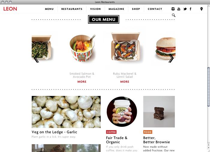 Leon Restaurants website 2