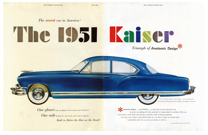 """The newest car in America! Triumph of Anatomic Design"""