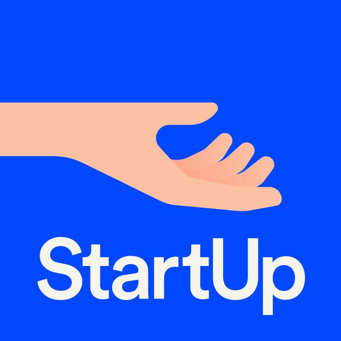 StartUp podcast logo and website 1