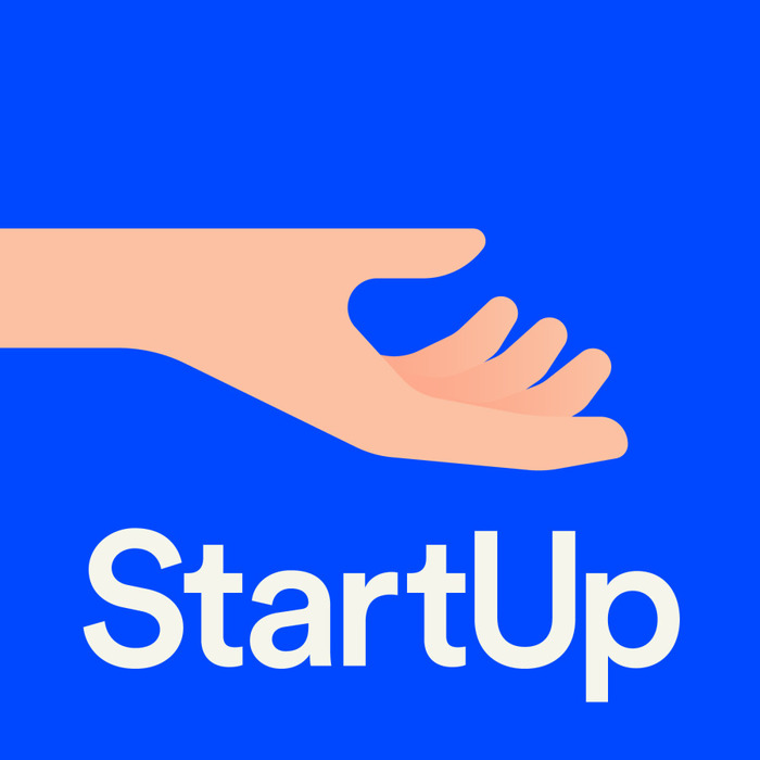 StartUp podcast logo and website 1