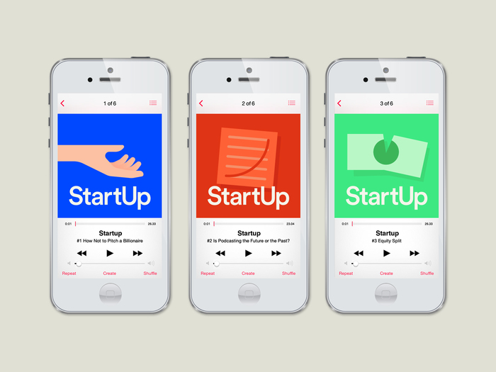 StartUp podcast logo and website 4
