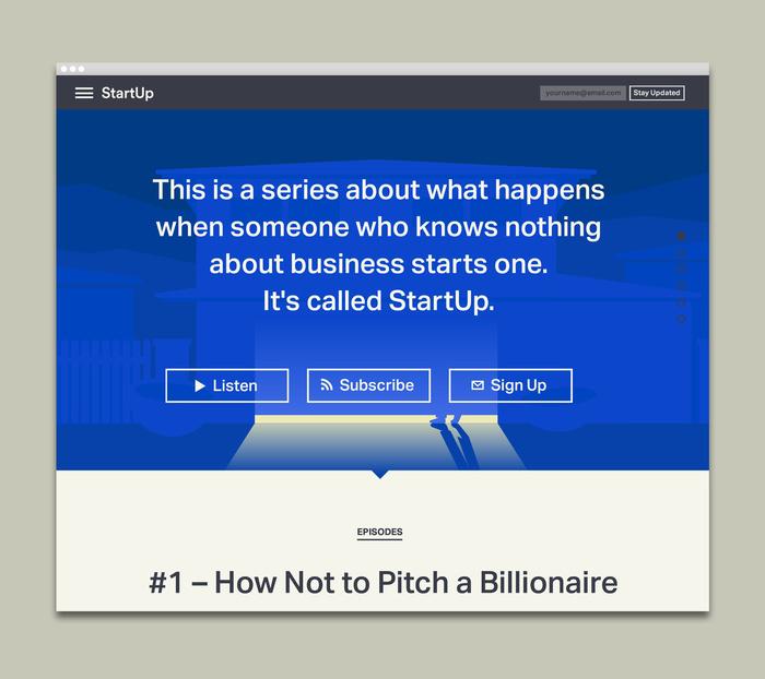StartUp podcast logo and website 5