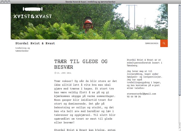 Stordal Kvist & Kvast website 1