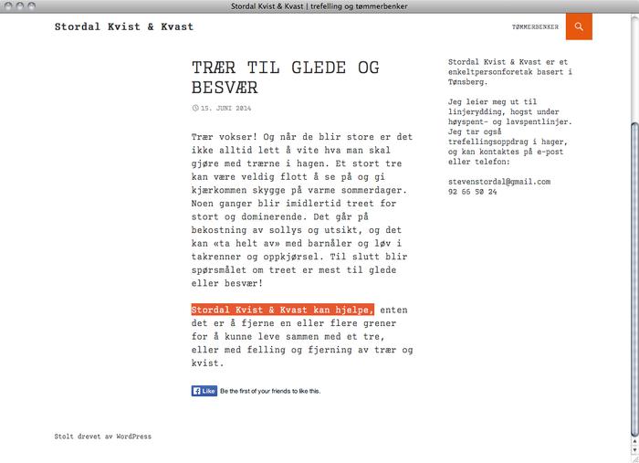 Stordal Kvist & Kvast website 3