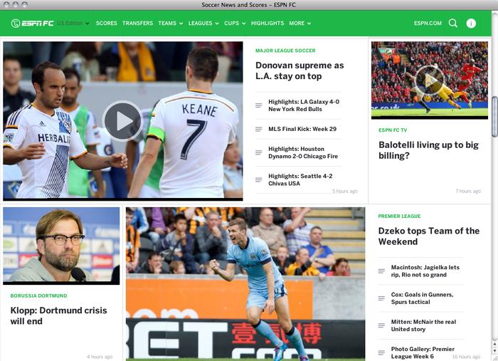 ESPN FC website 1