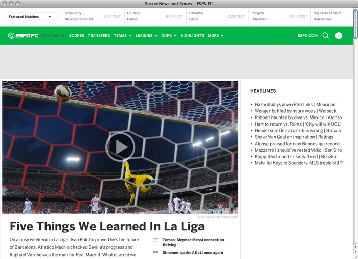 ESPN FC website 5