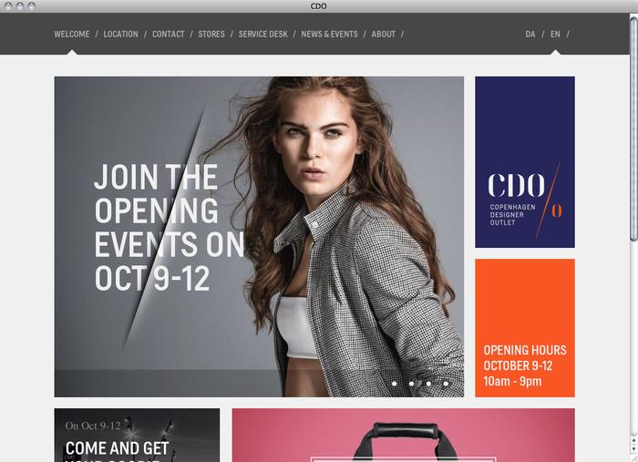 Copenhagen Designer Outlet website 1