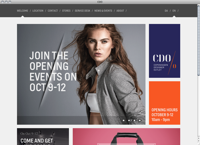 Copenhagen Designer Outlet website 1