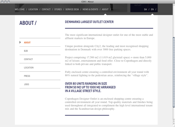 Copenhagen Designer Outlet website 2