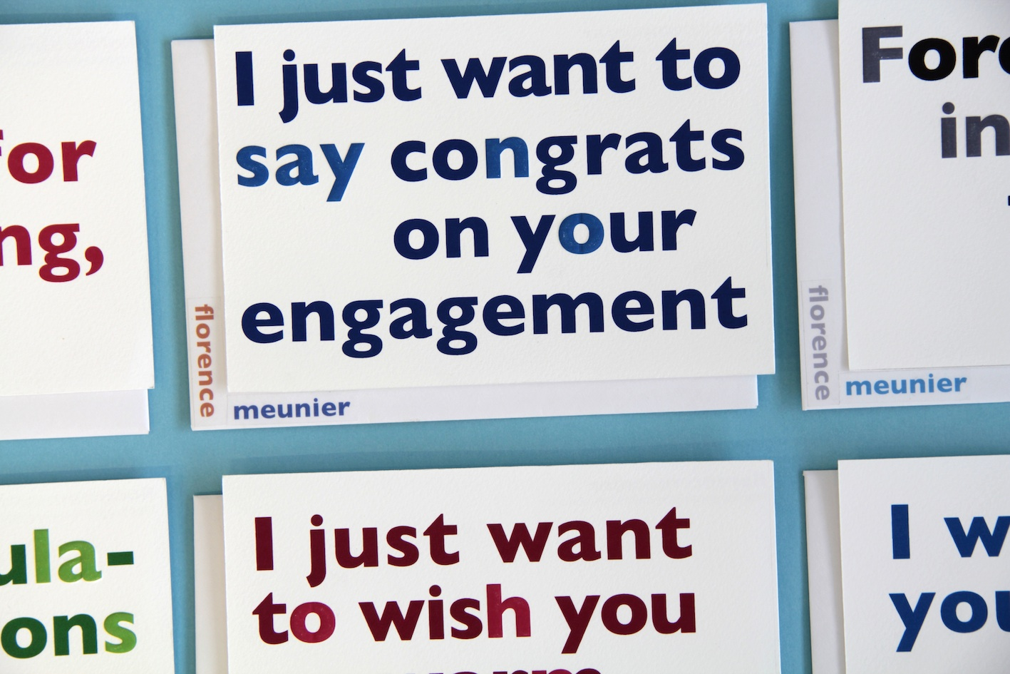 Double Meaning Greeting Cards Fonts In Use
